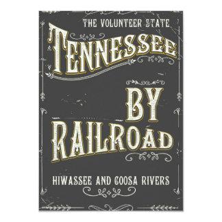 Cartão Poster da estrada de ferro do vintage de Tennessee