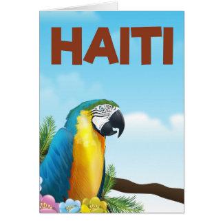 Cartão Poster de viagens de Haiti