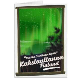 Cartão Poster de viagens de Kakslauttanen finland