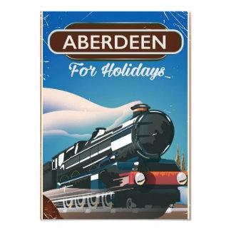 Cartão Poster de viagens do trem do vintage de Aberdeen
