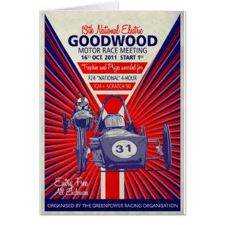 Cartão Poster vintage final nacional 2011 de Greenpower