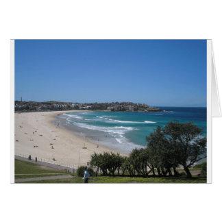 Cartão Praia Sydney Austrália de Bondi