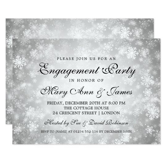 Cartão Prata elegante do país das maravilhas do inverno