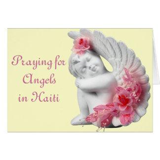 Cartão Praying para anjos em Haiti