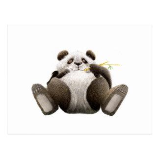 Cartão preguiçoso da panda