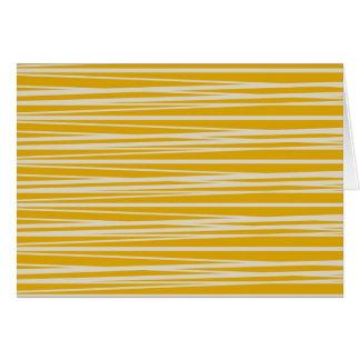 Cartão Presentes amarelos e brancos do teste padrão das
