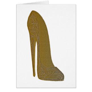 Cartão Presentes antigos da arte dos calçados do estilete