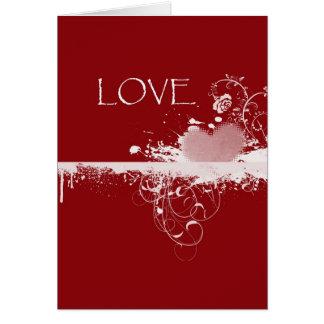 Cartão Presentes brancos vermelhos do coração do dia dos
