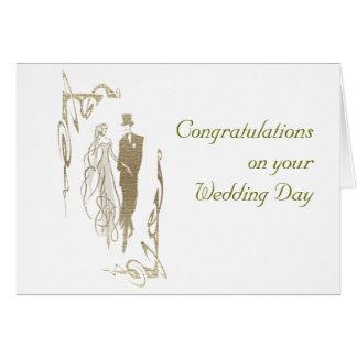 Cartão Presentes da arte do casamento & do aniversário