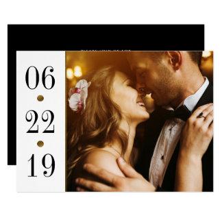 Cartão Preto & casamento feito sob encomenda da foto da