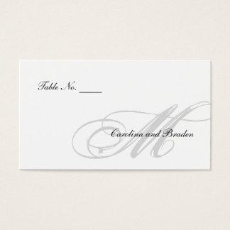Cartão preto da escolta do branco | do traje de