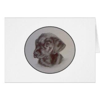 Cartão preto do filhote de cachorro de Labrador