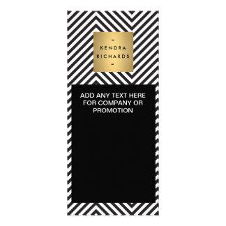 Cartão preto e branco retro da cremalheira do 10.16 x 22.86cm panfleto