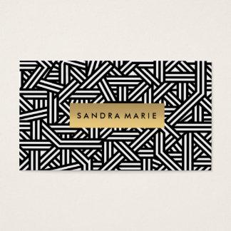 Cartão preto retro luxuoso do branco e do ouro