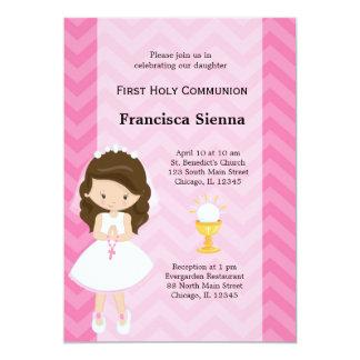 Cartão Primeiro comunhão santamente