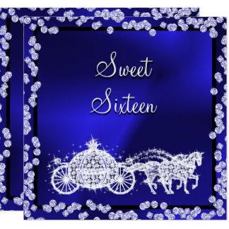 Cartão Princesa azul Treinamento & doce 16 dos cavalos