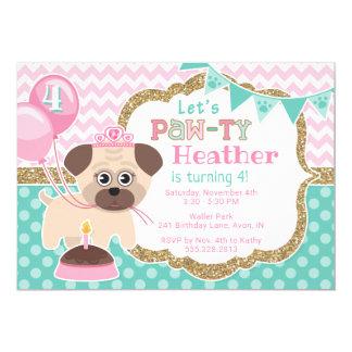 Cartão Princesa bonito Filhote de cachorro Pawty