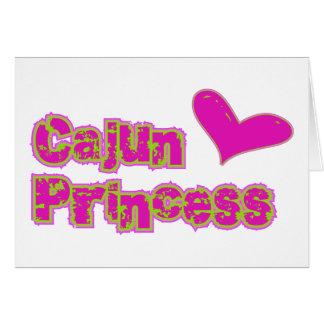 Cartão Princesa de Cajun