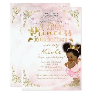 Cartão Princesa Tutu & chá étnico do bebé da coroa do