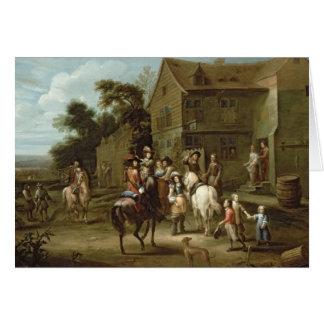 Cartão Príncipe William da laranja com caçadores