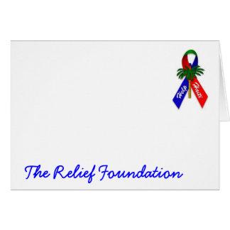 Cartão Produtos de papel de Haiti da ajuda