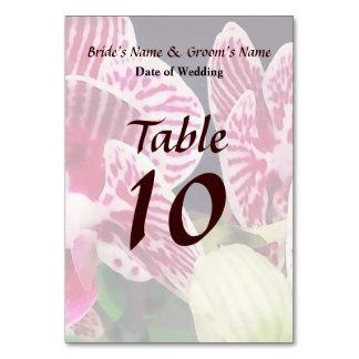 Cartão Produtos pequenos do casamento da orquídea de zebr