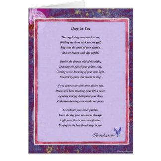Cartão Profundamente em você poema