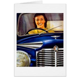 Cartão Propaganda dos motores de Vauxhall do vintage
