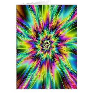 Cartão psicadélico do Supernova