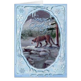 Cartão PUMA dos CUMPRIMENTOS da ESTAÇÃO por SHARON SHARPE