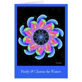 Cartão Purify & limpe as águas