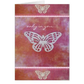 Cartão puro do amor do coração