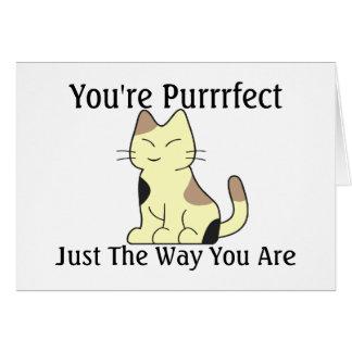 Cartão Purrrfect a maneira você é