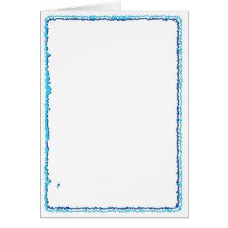 Cartão Quadros artísticos da beira do modelo: Adicione o