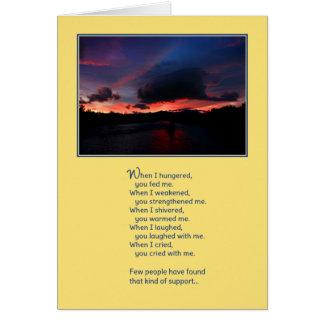 Cartão Quando eu desejei… a amizade