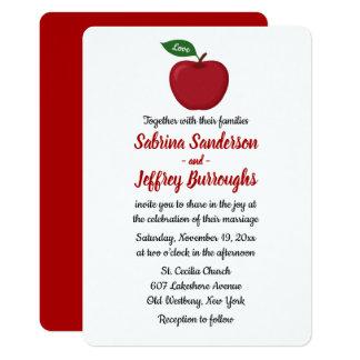 Cartão Queda Borgonha vermelha que Wedding o país de