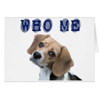 Cartão Quem mim impressão digital do cão