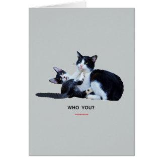 Cartão Quem você gatos