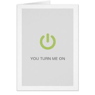 Cartão quente engraçado do botão