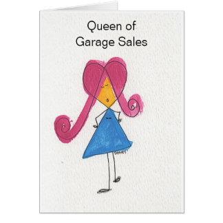 Cartão Rainha das vendas de garagem
