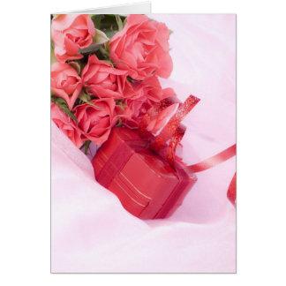 Cartão ramo of rosas