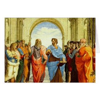 """Cartão Raphael """"a escola detalhe de Atenas"""" cerca de 1511"""