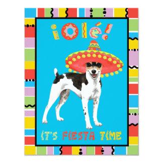 Cartão Rato Terrier da festa