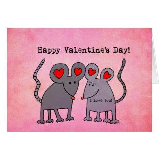 Cartão Ratos dos namorados