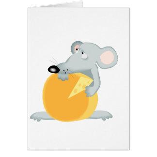 Cartão Ratos tristes do rato que guardaram o queijo