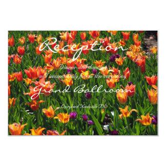 Cartão Recepção alaranjada do jardim