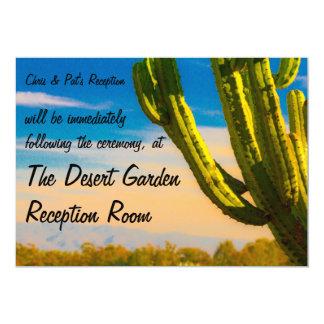 Cartão Recepção do deserto do cacto do Saguaro do modelo