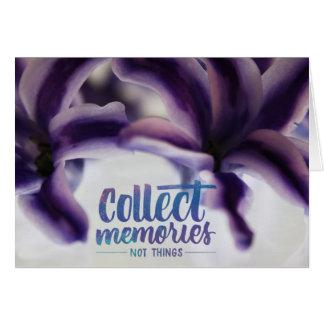 Cartão Recolha memórias