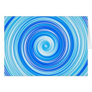 Cartão Redemoinho azul