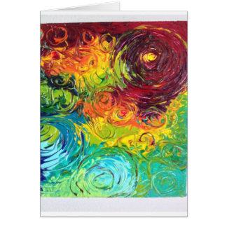 Cartão Redemoinhos coloridos